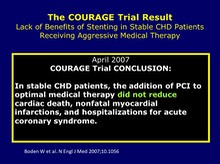 COURAGE Trial - The Conclusion